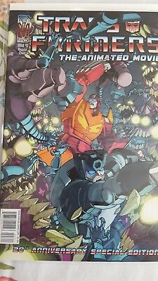 Transformers The Animated Movie Comic Book Issue 3 Cover A 20th Anniversary