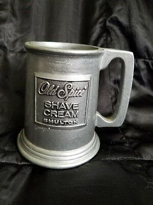 Cast Aluminum Vintage Collectible Old Spice Shave Cream Mug