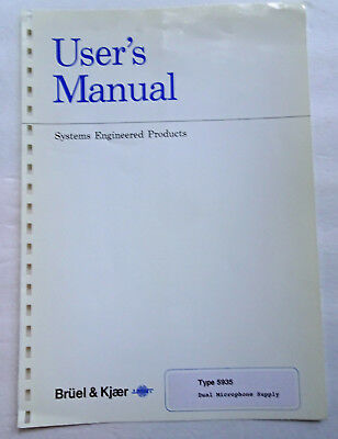 Bruel & Kjaer 5935 User Manual, Used