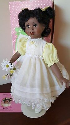 """Patricia Rose Porcelain African-American Doll Nicole 14""""fromParadise Galleries"""