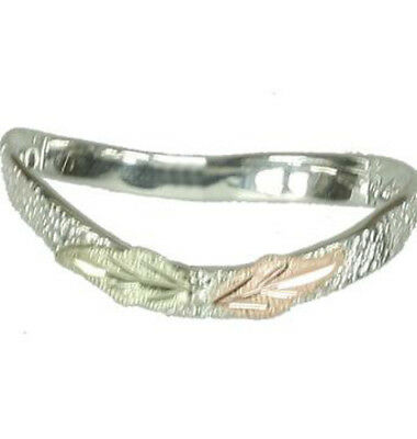 Black Hills Gold thumb ring curved .925 sterling silver