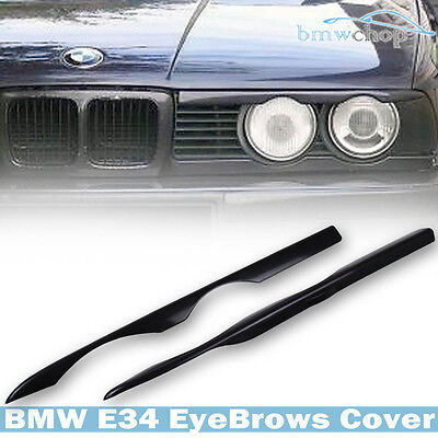 Unpainted BMW 5-Series E34 Sedan and Wagon Front Headlight Cover 1998-1996