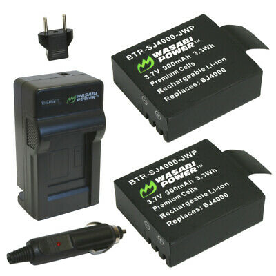 Wasabi Power Battery (2-Pack) and Charger for SJ4000, SJ5000, SJ6000 Cameras