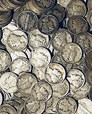 HISTORIC MERCURY DIMES - LOT OF 40 ~ Good To Extremely Fine Condition!!!