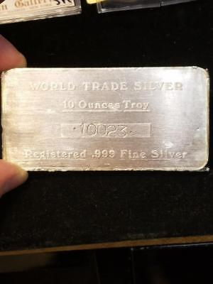 World Trade Silver 10 oz 999 Vintage Silver Bar AAM