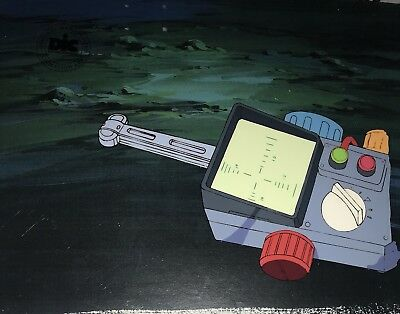 Real Ghostbusters SLIMER Original  Animation Production Art Cel DIC ENT SEAL