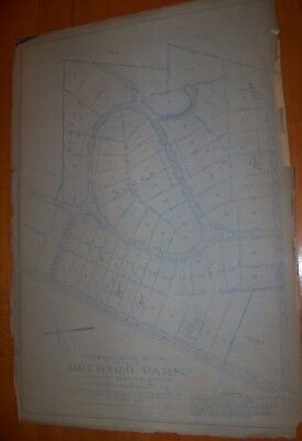 1913 Antique Orchard Park NY Elmwood Ave Clover Intersection Atlas Map Buffalo