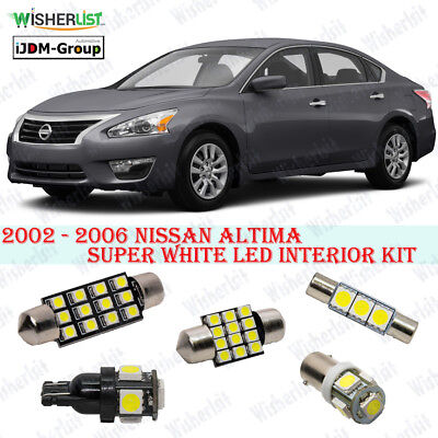 13 X Premium Xenon White Led Lights Interior Package For Nissan