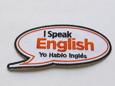 home depot collectibles  I speak english  patch