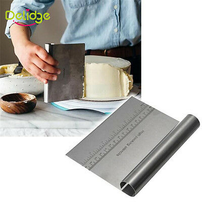 Stainless Steel Cake Tools Smoother Scraper Fondant Sugarcraft DIY Baking Tools