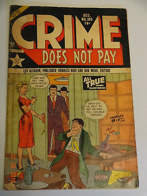 Crime Does Not Pay #105 Used In P.o.p