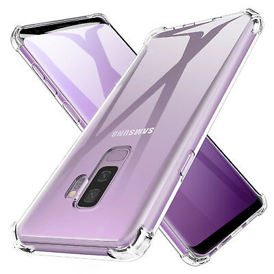 TPU Crystal clear 360°Soft Ultra thin Case Cover For Samsung Galaxy S8 S9 Plus +