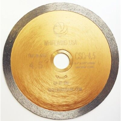 SAW BLADE DIAMOND 4 1/2 in Continuous Rim Design Wet Tile Cutting Tile Tools NEW