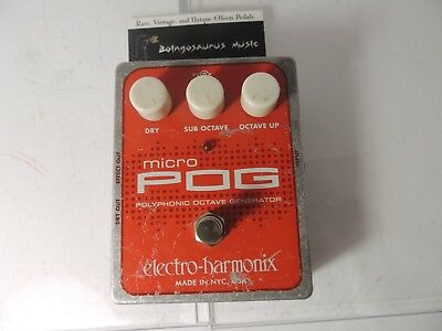 Electro Harmonix Micro POG Polyphonic Octave Generator Effects Pedal Free US S&H