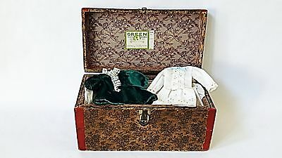 """Antique Doll Chest by """"Green Toy Works"""" Original Green Paper Label"""