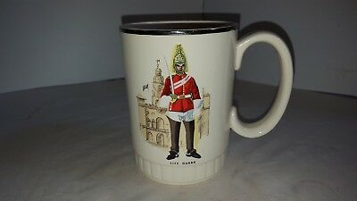 Royal Worcester Palissy England Life Guard Beer Mug Cup Glass