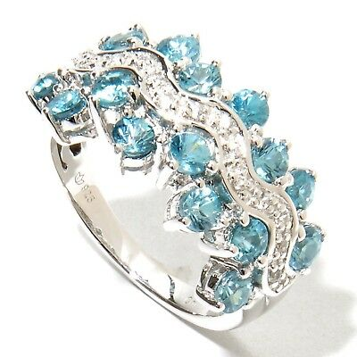 Blue&White Rinestone/Crystal Ring  Fashion Girl's Ring For Party Engagement