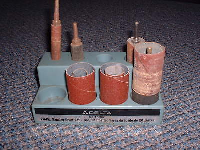 Lot Sanding Drums & Delta Stand And Arbors No.17-962