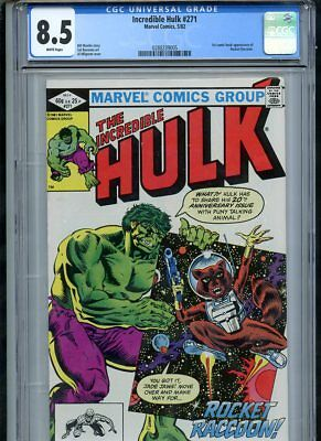 Incredible Hulk #271 (1982) 1st Appearance Rocket Raccoon CGC 8.5 VF White Pages