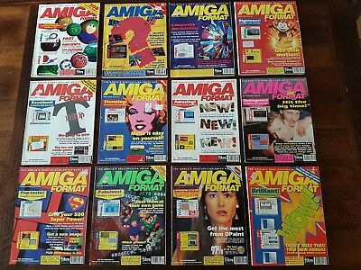 Amiga Format Magazine 1992, 12 Issues - January to December