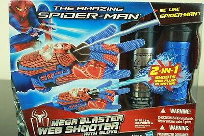 NEW THE AMAZING SPIDER-MAN MEGA BLASTER WEB SHOOTER W/ GLOVE Spiderman