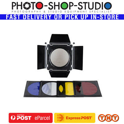 Nicefoto SN-01 Barndoor with Honeycomb and Colour Gels Kit (Mini/Universal)