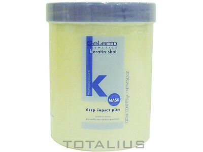 MASCARILLA CAPILAR DEEP IMPACT PLUS KERATIN SHOT 1000 ml SALERM