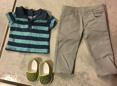 American Girl Truly Me Boy Meet Outfit With Shoes New