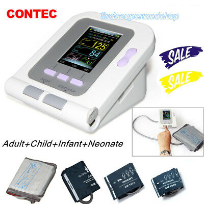 USA Digital Blood Pressure Monitor NIBP Neonatal/Infant/Child/Adult cuffs Newest