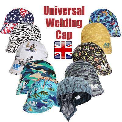 ☆ Welding Welder Hat Cap Flame Retardant Protector Sweat Absorption Elastic Soft