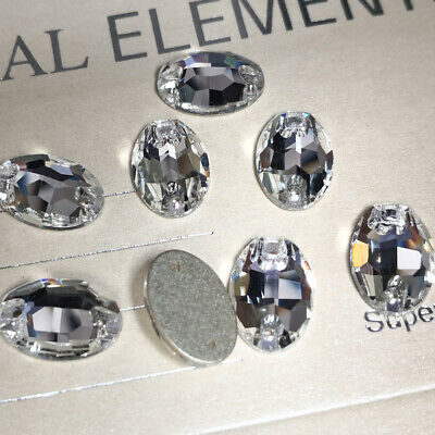 YANRUO 3210 Oval Clear Flatback Sew Crystal Rhinestones for Clothing Decoration