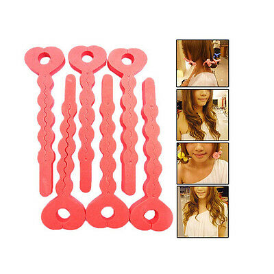 Economic 6X Magic Sponge Hair Soft Curler Roller Strip Heatless Roll Tools6KLE