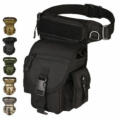 Men Fanny Pack Rider Motorcycle Tactical Military Belt Waist Canvas Hip Leg Bag