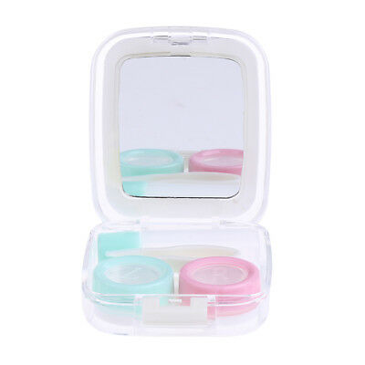 Mini Contact Lens Case Box Travel Kit Portable Mirror Container Holder