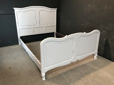Vintage French Double size bed/ Painted French bed shabby chic style(VB130)