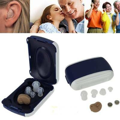 UK 2x Mini Digital Invisible Hearing Aids in the Ear Best Sound Voice Amplifier