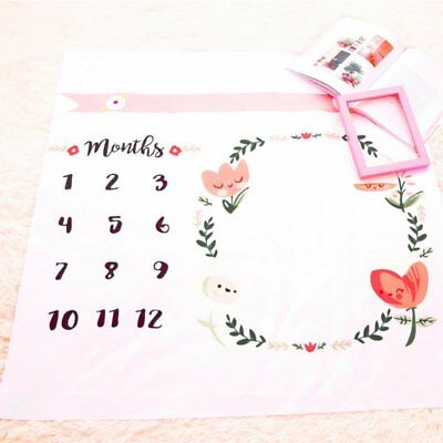 Newborn Baby Kid Monthly Growth Milestone Blankets Photography Mat BackdropProps