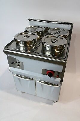 Wet BAIN MARIE with TAP  4x7L Round Pots & STAND - LPG GAS  2018