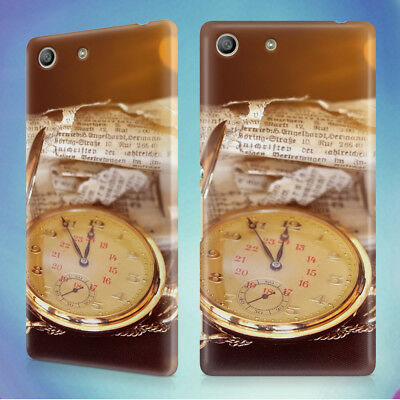 Antique Clock Clock Face Pocket Watch Hard Back Case For Sony Xperia Phones