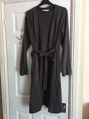 Preloved Blooming Marvellous Dark Grey Maternity Dressing Gown Medium 12/14