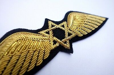 EL AL Israel Airlines Pilot Wings Patch 1950s Quality Hand Made Reproduction