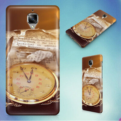 Antique Clock Clock Face Pocket Watch Hard Back Case For Oneplus Phones