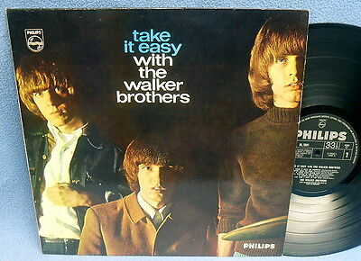 LP WALKER BROTHERS - TAKE IT EASY / UK ENGLAND MONO PHILIPS 1st PRESS