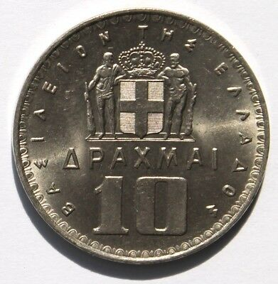 Griechenland 10 Drachmen 1959 , Paul I. , Greece , UNC , KM#84