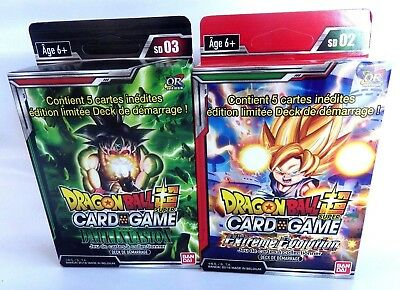 Dragon Ball Super Card Game carte lot 2 starter pack  SD02 et SD03 VF