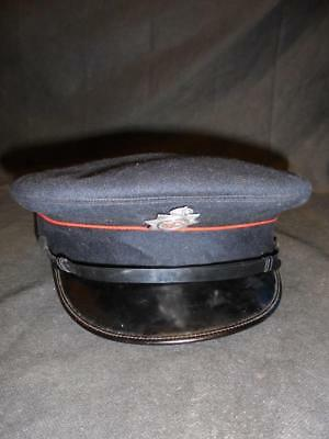 1950s National Fire Service NFS Womens Peaked Service Cap / Hat and Badge