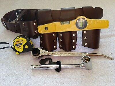 SCAFFOLDING LEATHER BELT WITH FULL QUALITY TOOLS UK (100% genuine leather)