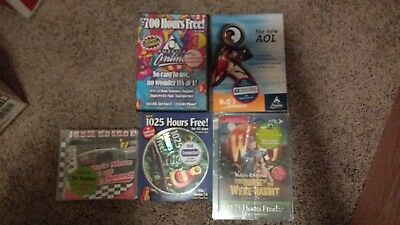 Lot of 5 vintage aol CDs including rare Wallace & Gromit