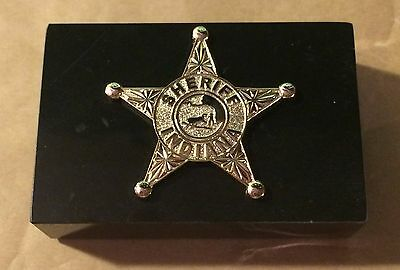 Indiana Sheriff Paperweight