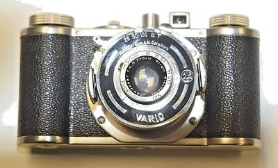 Wirgin 35mm Camera with Vario Shutter and Wirgin 50mm f4.5 Lens